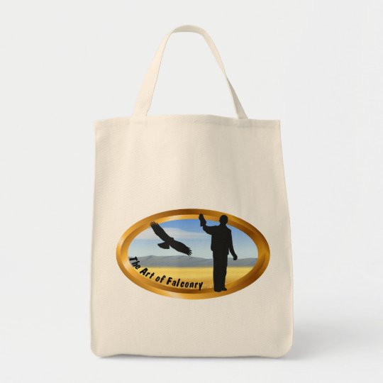Art of Falconry - Oval Tote Bag