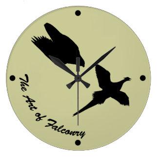 Art of Falconry- Peregrine Falcon Round Wallclocks