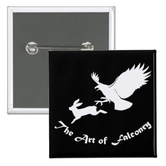 Art of Falconry - Red Tail Hawk 2 Inch Square Button