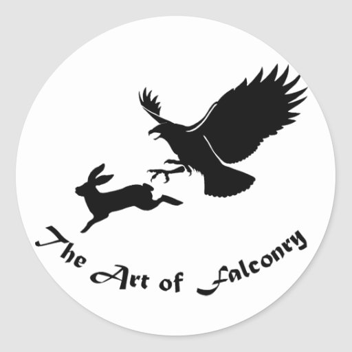 Art of Falconry - Red Tail Hawk Classic Round Sticker