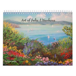 Art of Julia Utiasheva, Wall Calendar