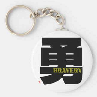 Art of Kanji - Bravery,  Courage; Heroism Keychain