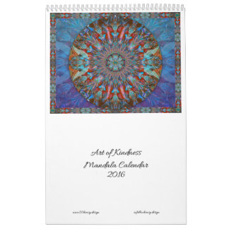 Art of Kindness Mandala Calendar 2016