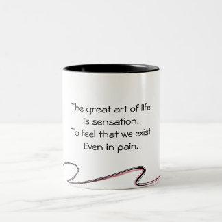 art of life Two-Tone coffee mug
