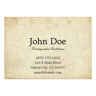 Art of Manliness Calling Card Large Business Card