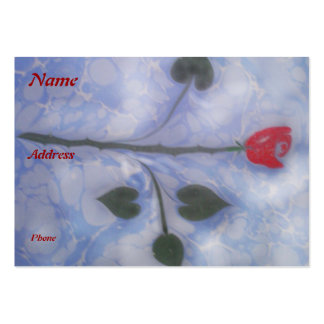 Art of marbling red rose  Business Card