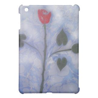 Art of Marbling red rose ipad Case