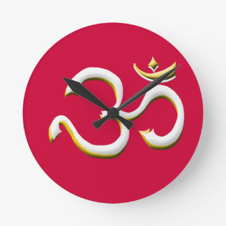 Art of OM / AUM Symbol  - Style Always in Fashion Round Clock