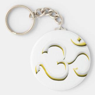 Art of Om Symbol Basic Round Button Keychain