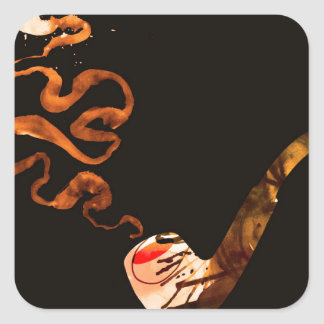 Art of Pipe Smoking 3 Square Sticker
