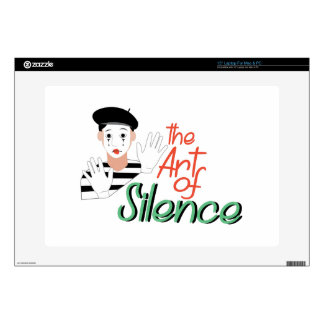 """Art of Silence Decal For 15"""" Laptop"""