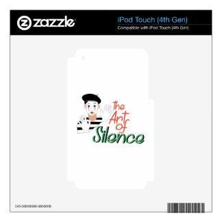 Art of Silence Decals For iPod Touch 4G