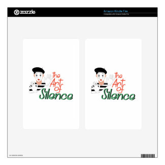 Art of Silence Decals For Kindle Fire