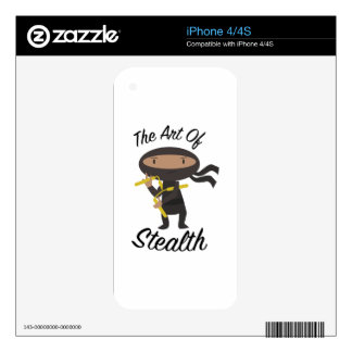 Art Of Stealth Skins For The iPhone 4S