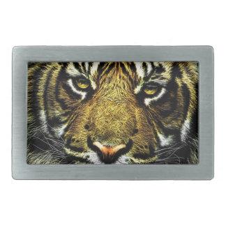 Art of Wild Animal Tiger Rectangular Belt Buckles