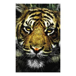 Art of Wild Animal Tiger Customized Stationery