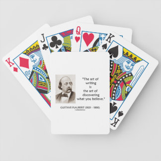 Art Of Writing Is Art Of Discovering What Believe Bicycle Playing Cards