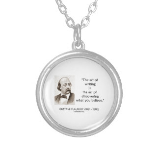Art Of Writing Is Art Of Discovering What Believe Round Pendant Necklace