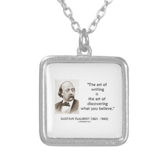 Art Of Writing Is Art Of Discovering What Believe Square Pendant Necklace