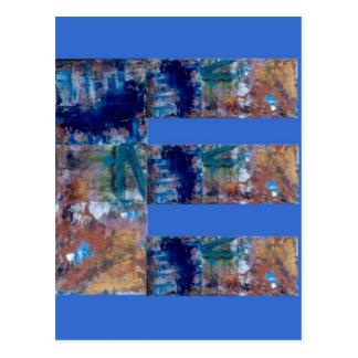 """Art on blue reason of """"E """" Postcard"""