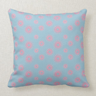 Art on your cushions Coral and Duck Egg Blue