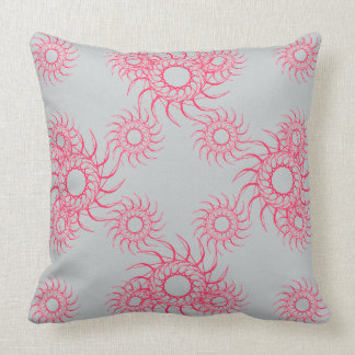 Art on your cushions Coral Red and Grey