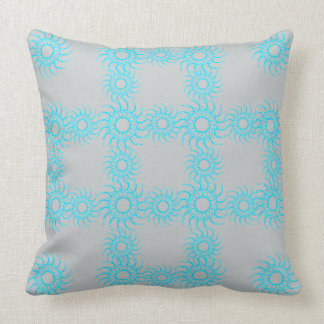 Art on your cushions Turquoise annd Grey