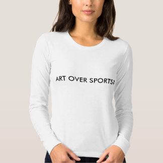 art or sports debate tee shirt