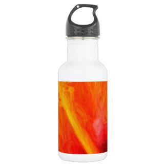 art - orange_hibiscus stainless steel water bottle