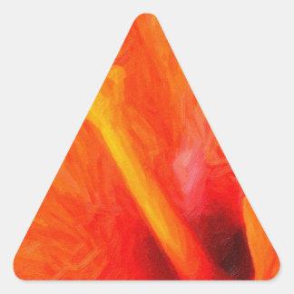 art - orange_hibiscus triangle sticker