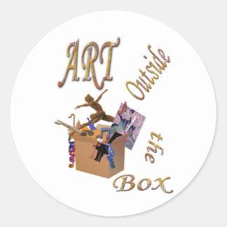 Art Outside the Box Classic Round Sticker