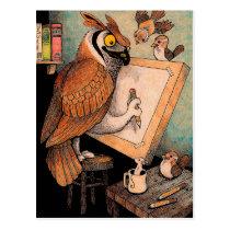 Art Owl Postcard