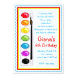 Art Paint Craft Birthday Party Invitations