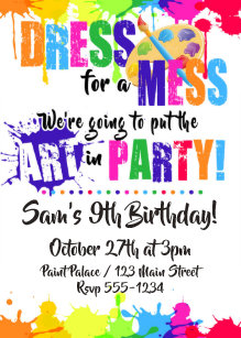 painting party invitations zazzle
