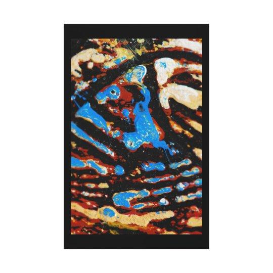 Art paint oils blue black canvas print