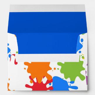 Art Paint Splash Birthday Party Envelopes