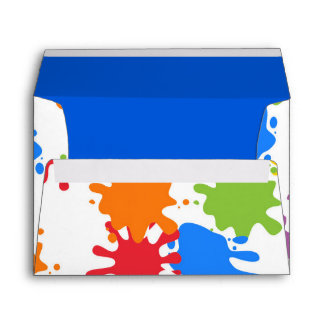 Art Paint Splash Birthday Party Envelopes