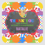 Art Painting Birthday Party Favor Tag Sticker