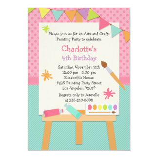 Art Painting Birthday Party Invitation