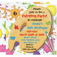 Art Party Invitations Announcements Zazzle