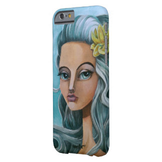 Art painting Blue hair big eyed girl Barely There iPhone 6 Case