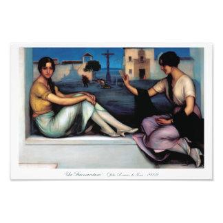 Art Painting, Good luck, Julio Romero de Torres Photographic Print