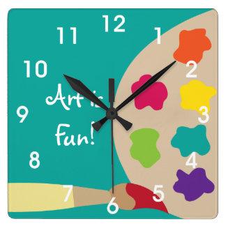 Art Painting Palette Wall Clock