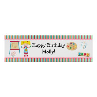 Art Painting Party Birthday Banner 40x12
