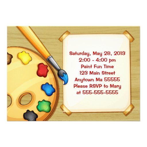 Personalized Art party Invitations – Artist Party Invitations
