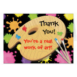 Art Painting Party Thank You Notes Stationery Note Card