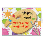 Art Painting Party Thank You Notes Greeting Card