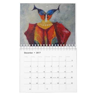 Art Paintings Abstract  Decorative Calendar