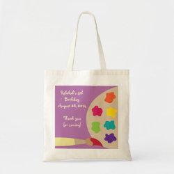 Art Palette Personalized Bag - Purple