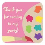 Art Palette Stickers - Pink